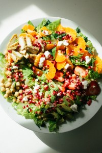 Orange avocado chickpea salad / go eat your bread with joy