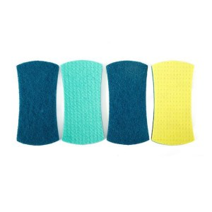 Full Circle Stretch Counter Scrubbers, 4 pack