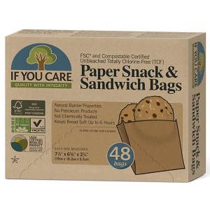 If You Care Paper Snack and Sandwich Bags, 48pk