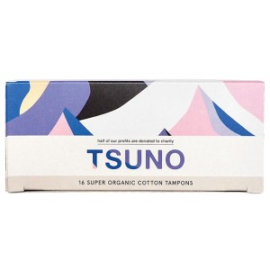 Tsuno Organic Cotton Tampons, Super 16 pack