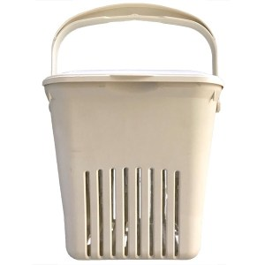 Biobag Vented Kitchen Caddy, Cream