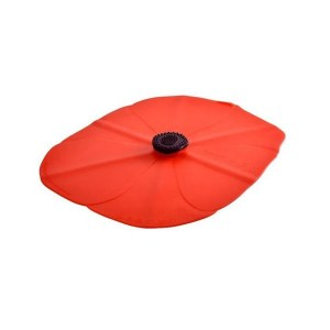 Charles Viancin Oblong Silicone Lid, Poppy