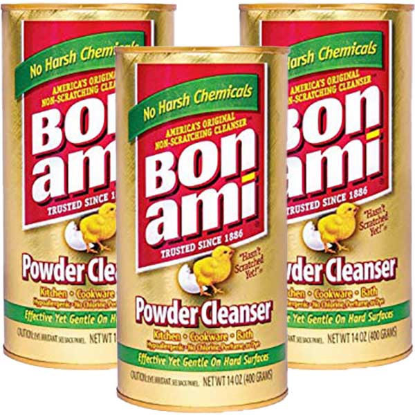 Bon Ami Powder Cleanser 3pk