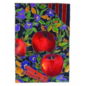 Tangerine Meg Apples and Red Peg Card