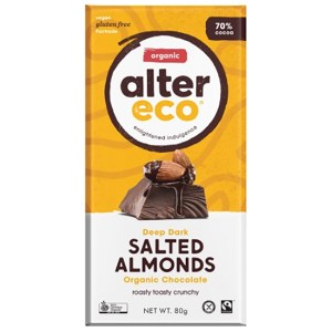 Alter Eco Vegan Chocolate Salted Almonds