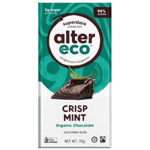 Alter Eco Vegan Chocolate Crisp Mint