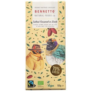 Bennetto Organic Vegan Dark Chocolate Salted Caramel