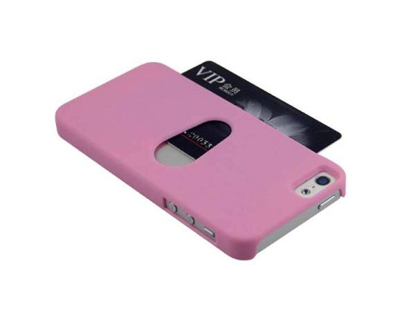 iPhone 5/5S Hoesje Bankpas Creditcard Roze