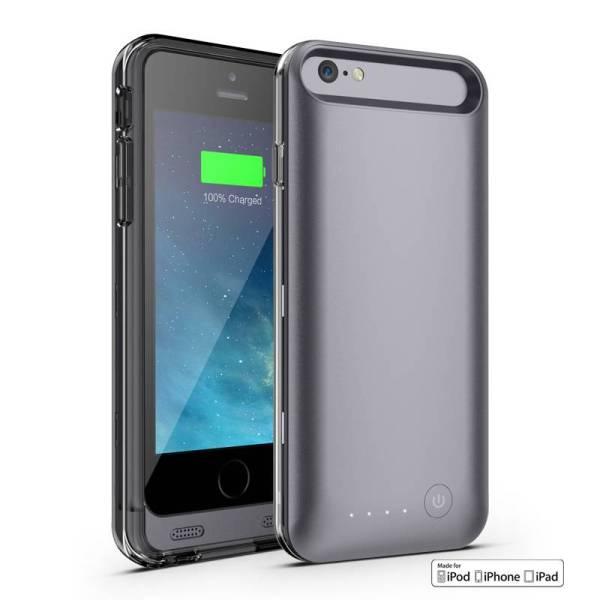 Accu Case iPhone 6/6S Batterij MFI Zwart 3100mAh