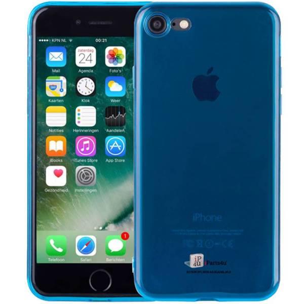Ultra Dun iPhone 8/7 Hoesje Siliconen Blauw Transparant