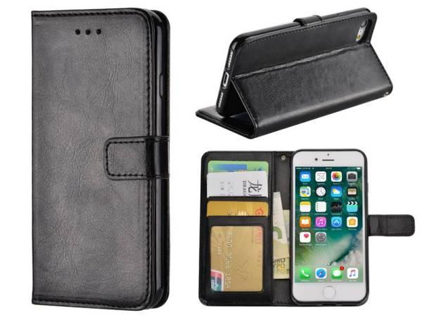 iPhone 8 / 7 Bookcase Hoesje Zwart PU Leder