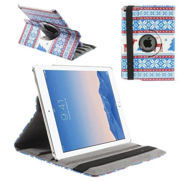 iPad Air 2 Hoes 360 Graden Draaibaar Leder Foute Kerst Rood
