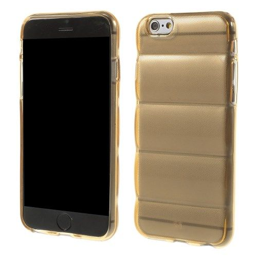 Hoesje iPhone 6/6S Siliconen Body Armor Goud Transparant