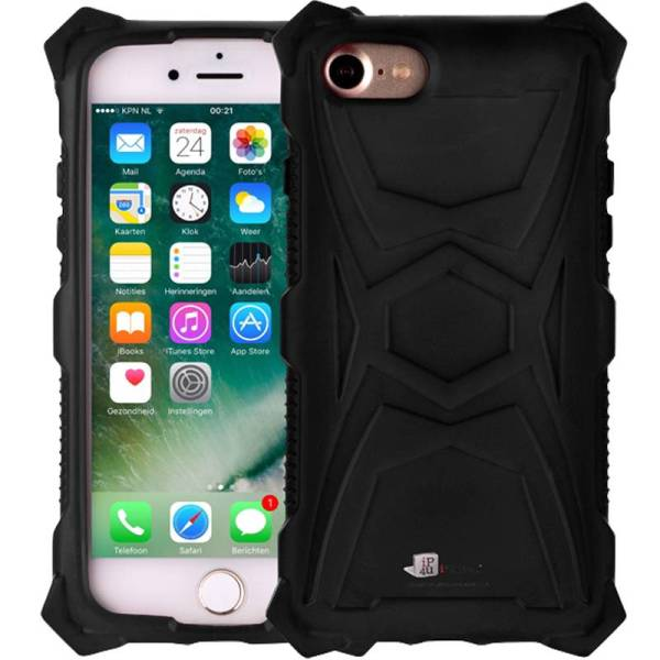 Schokbestendig iPhone 8/7 Hoesje Zwart Shockproof