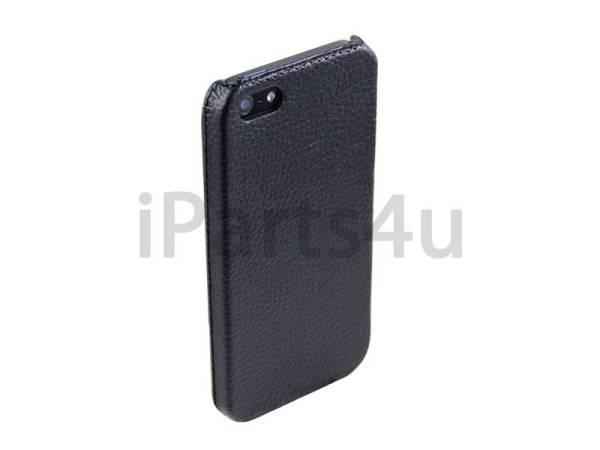 Hardcover Snap Case iPhone 5/5S Luxe Leder Zwart