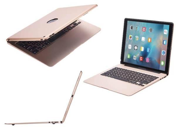 Aluminium Toetsenbord Hoes iPad Pro 12.9 Inch Goud Executive