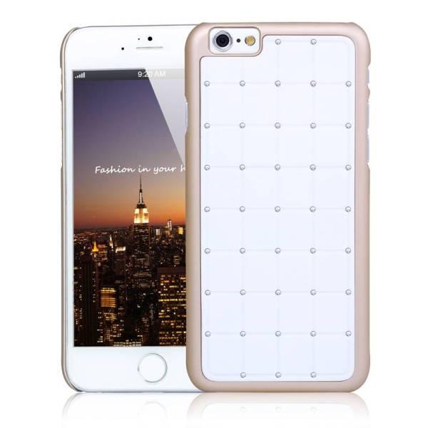 iPhone 6/6S Hardcover Vierkant Diamantjes Goud