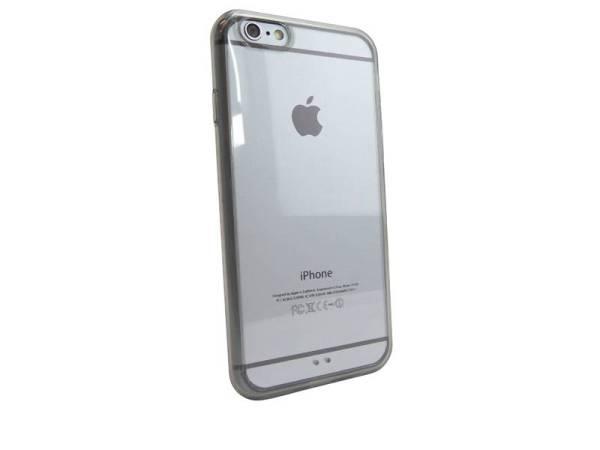 Silconen Hoesje iPhone 6 en 6S Bumper Zwart Transparant