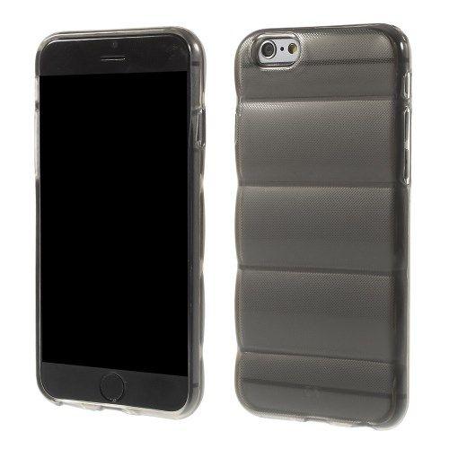 Siliconen Gel TPU iPhone 6 en 6S Body Armor Hoesje Zwart Transparant