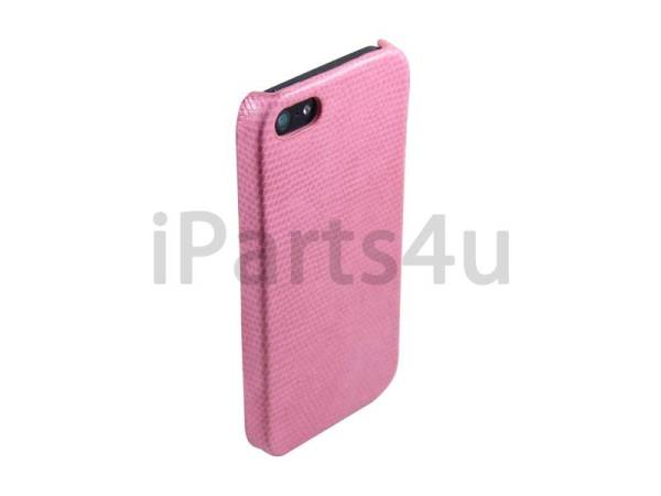 iPhone 5/5S Hardcover Case Slangenprint Roze
