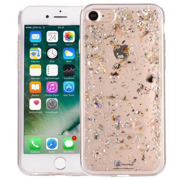 iPhone 8/7 Glitter Hoesje Snippers Parelmoer