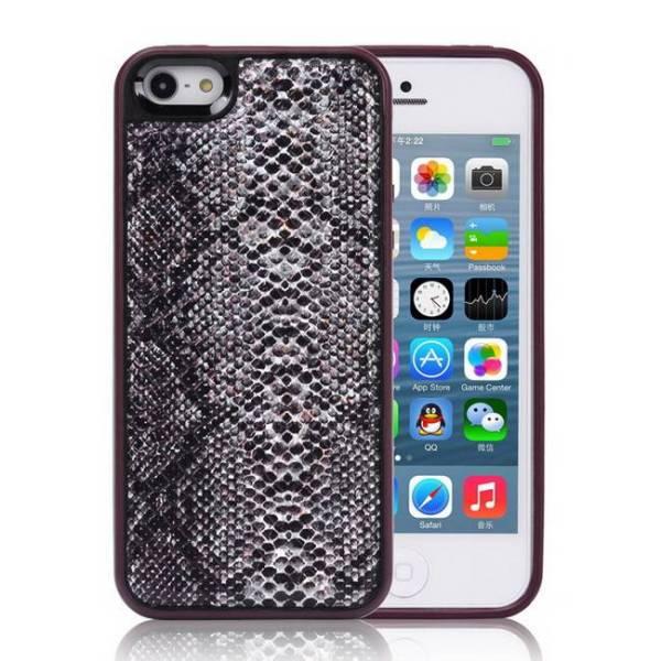 Slang Hardcover Snap Case Hoesje iPhone 5/5S Gekleurd Zwart