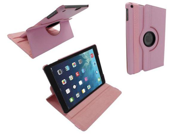 iPad Air Leder Hoes Draaibaar 360 Graden Roze