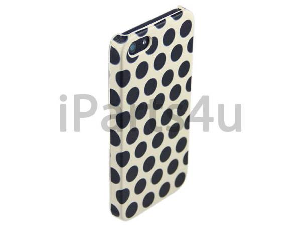Hardcover Snap Case iPhone 5/5S Stippen Zwart