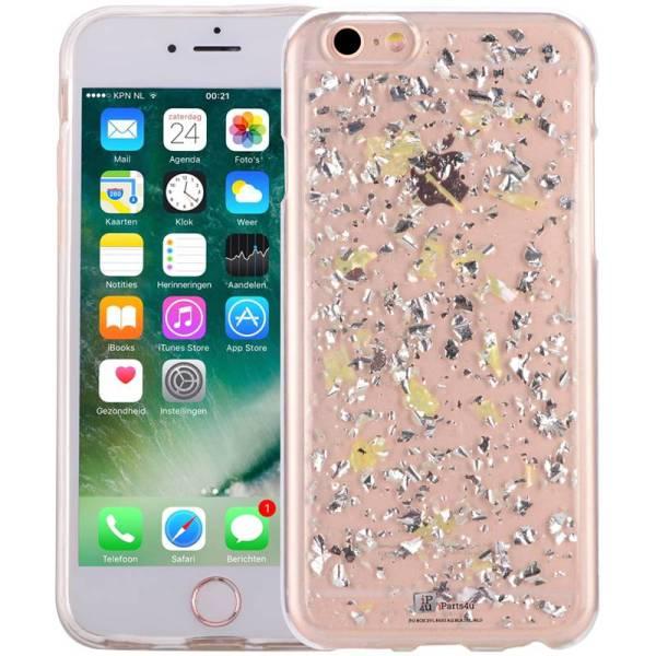 iPhone 6/6S Glitter Hoesje Snippers Parelmoer Geel