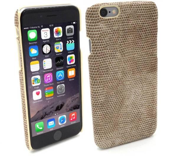 Snap Case iPhone 6 en 6S Hardcover Slang Beige Bruin