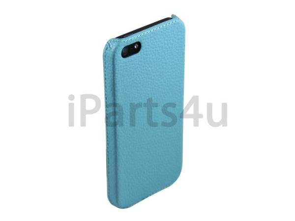 Hardcover Snap Case iPhone 5/5S Luxe Leder Baby Blauw