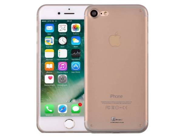 iPhone 8/7 Hardcase Ultra Dun Premium Mat Zwart