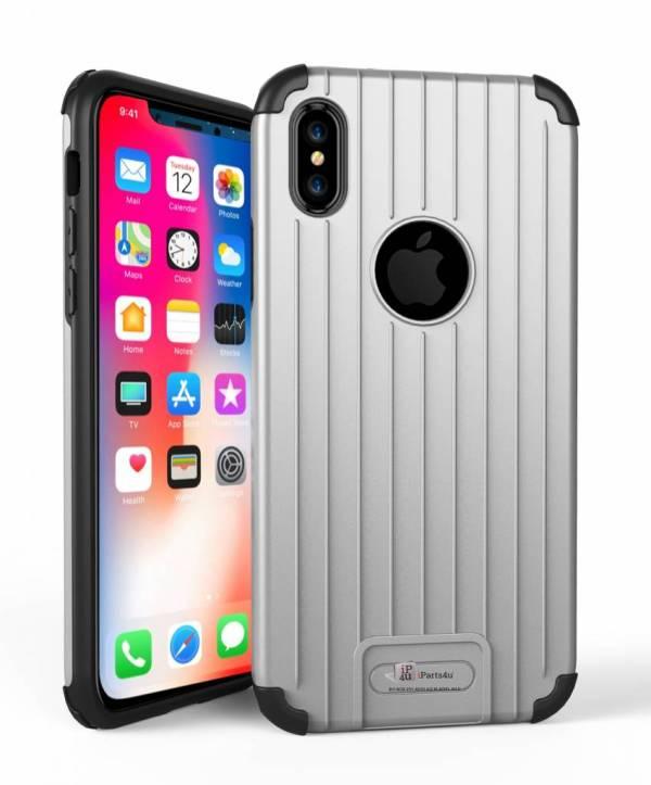 Armor iPhone X Hoesje Schokbestendig Hardcase Zilver