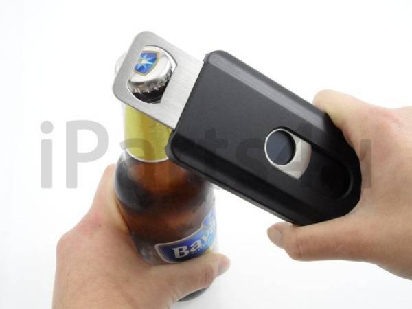 Bier Fles Opener Case voor iPhone 5/5S Zwart