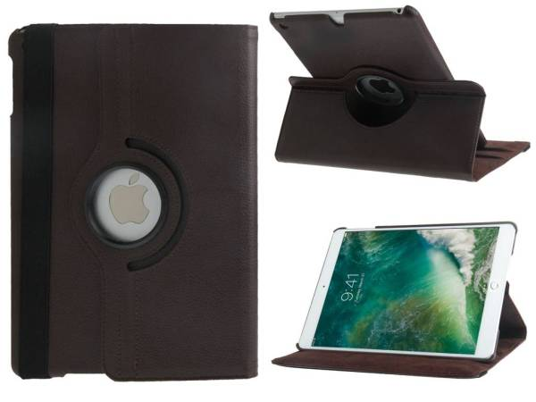 iPad 2017/iPad Air Hoes Draaibaar 360 Graden Donkerbruin