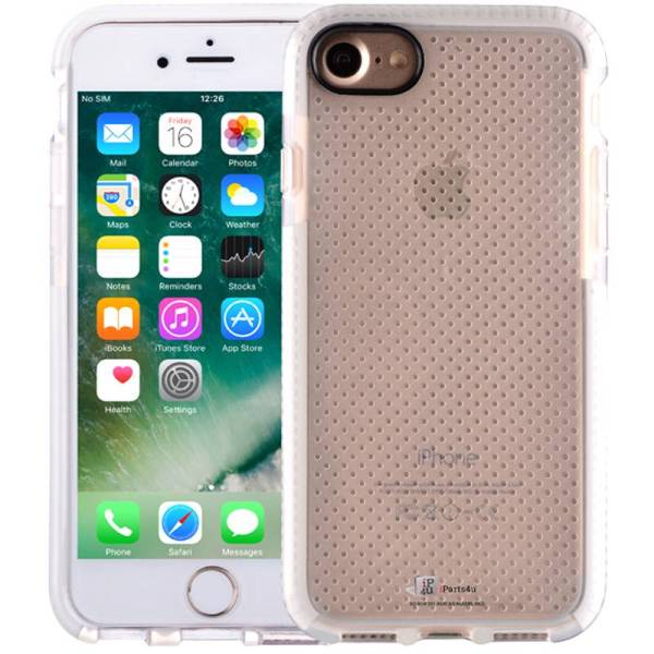 iPhone 8/7 Bumper Case Siliconen Shockproof Hoesje Wit