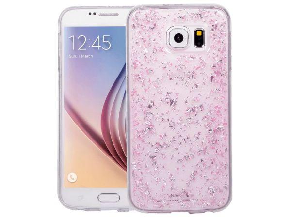 Samsung Galaxy S6 Glitter Hoesje Snippers Roze