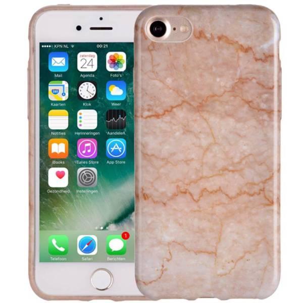 Elegant Marmer iPhone 8/7 Hoesje Marble Beige Siliconen