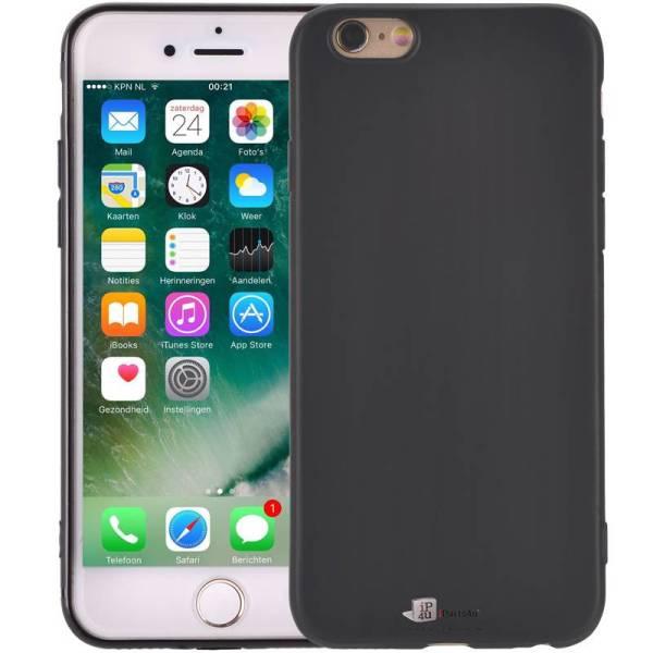 Elegant Ultradun iPhone 6/6S Hoesje Siliconen Mat Zwart