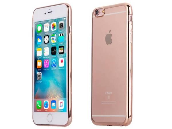 iPhone 6 Plus/6S Plus Bumper Case Rose Goud van ultradun siliconen