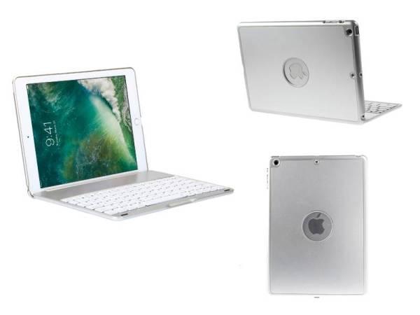 iPad 2017 / iPad Air 1 Toetsenbord Hoes Note Kee Ultra Dun Wit