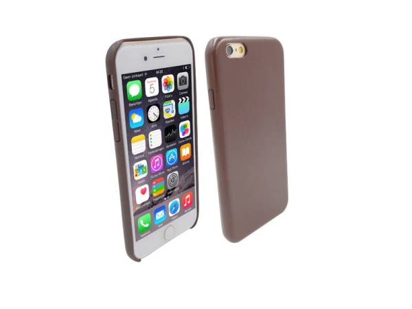 Ultra dunne Vinyl Lederen Backcover Case iPhone 6 Bruin