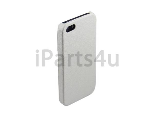 Hardcover Snap Case iPhone 5/5S Luxe Leder Wit