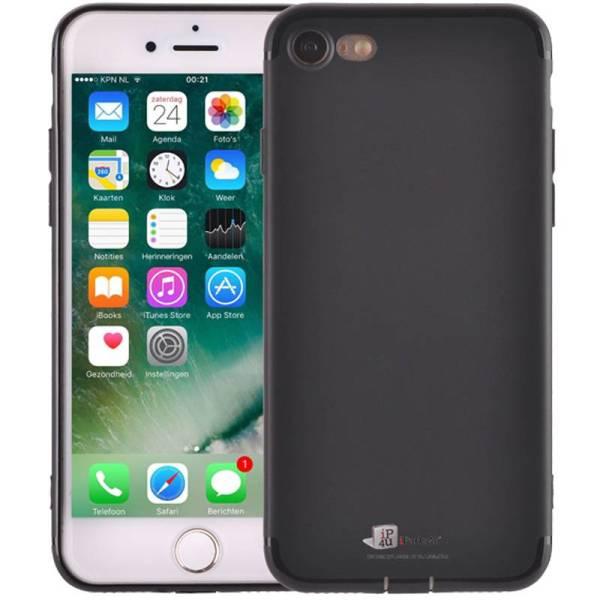 Ultradun iPhone 8/7 Hoesje Siliconen Beschermt Uitgang Zwart Mat