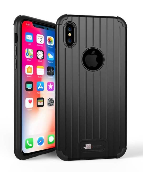 Armor iPhone X Hoesje Schokbestendig Hardcase Zwart