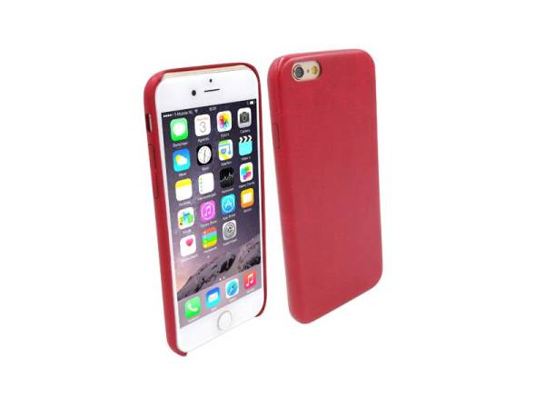 Ultra dunne Vinyl Lederen Backcover Case iPhone 6 Rood