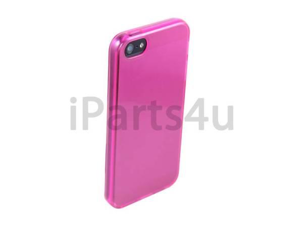 Siliconen Gel iPhone 5/5S Hoesje Roze Transparant