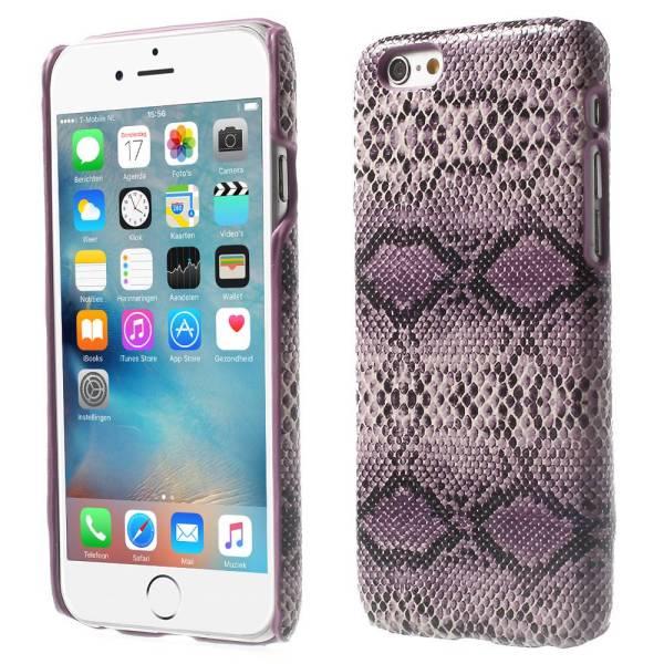 iPhone 6 en 6S Hoesje Hardcover Slangenprint Paars