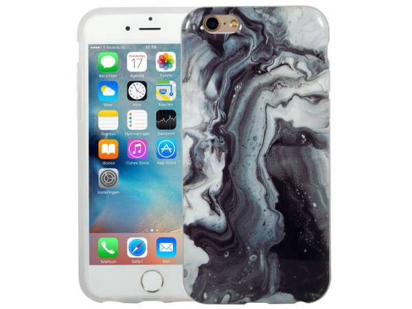 Marmer iPhone 6 / 6S Hoesje Marble Olie Combi
