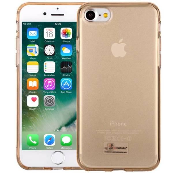 Elegant iPhone 8/7 Hoesje Siliconen Goud Transparant